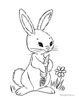 Adorable Rabbit On Garden Coloring Pages Animals