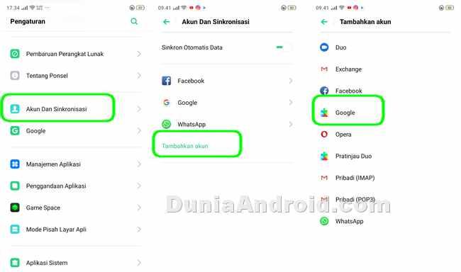 Cara Tambah Dan Hapus Akun Google Di Realme 3 Pro Dunia Android
