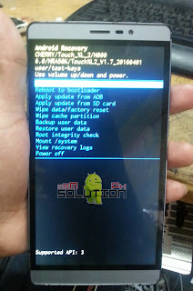 Cherry Mobile TOUCH XL 2 android recovery menu