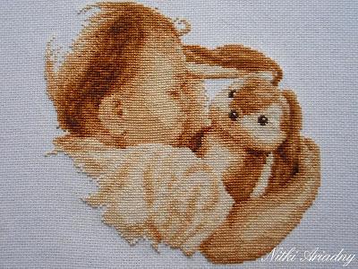 Z królikiem w objęciach