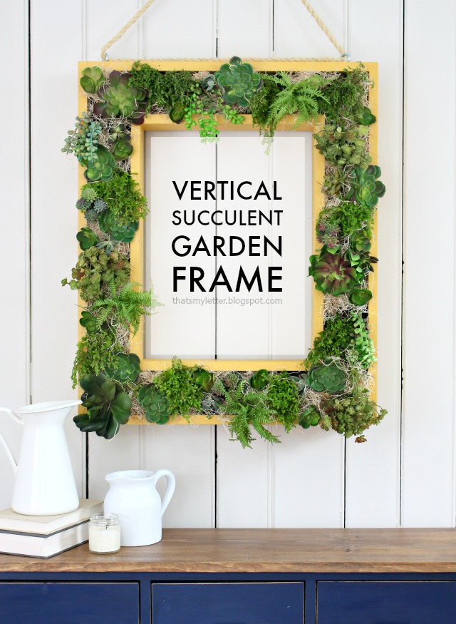 That 39 S My Letter Vertical Succulent Garden Frame