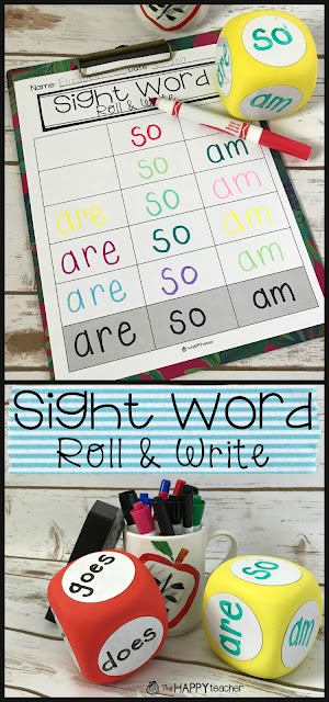 This is the perfect activity for Word Work stations or centers. It's also an easy activity for parents to do at home with their child to practice weekly sight words in Kindergarten and 1st grade.