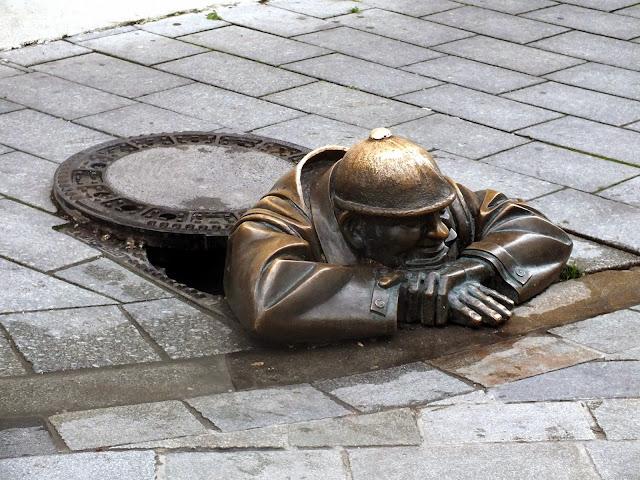 El hombre de la Alcantarilla en Bratislava