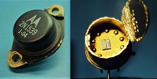 motorola vintage transistor gold wire