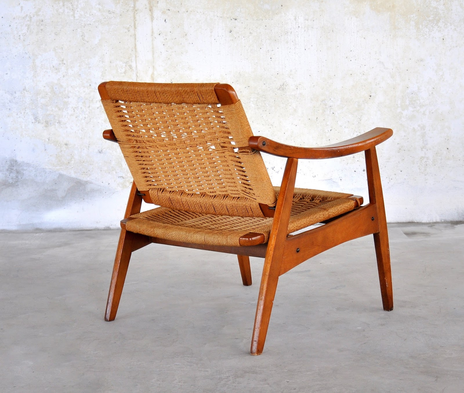 Chairs Furniture: SELECT MODERN: Hans Wegner Style Rope Lounge Chair