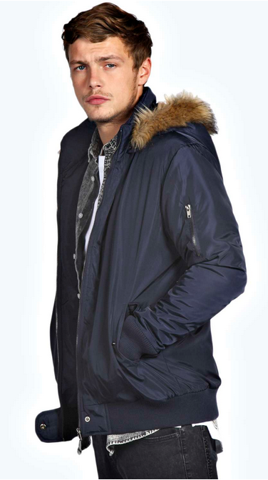 Bomber Jacket With Faux Fur  Parka Hood £30.00