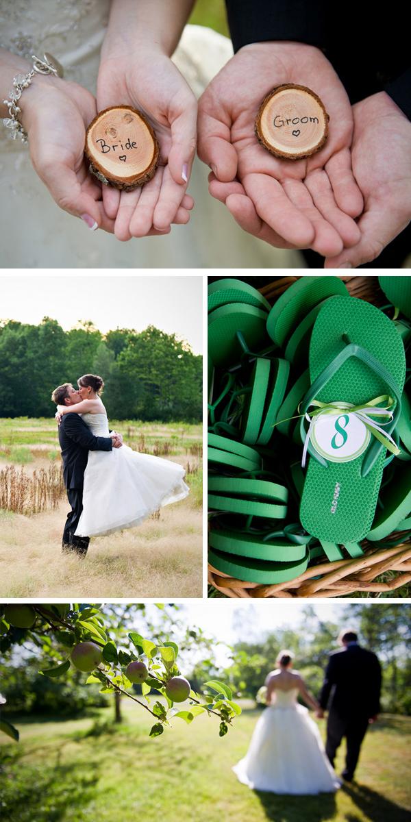 green DIY woodsy wedding | ashley therese photography