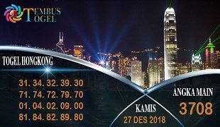 Prediksi Angka Togel Hongkong Kamis 27 Desember 2018