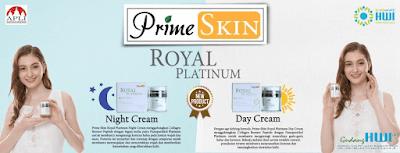 PrimeSkin Royal Platinum HWI Night Cream dan Day Cream with UV Filter