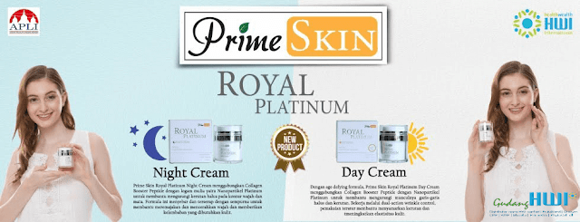 PrimeSkin Royal Platinum HWI Night Cream dan Day Cream with UV Filter