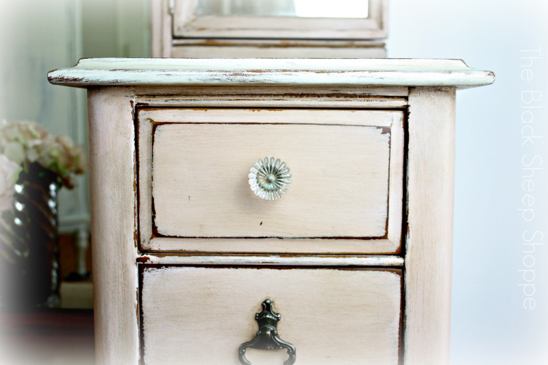 Original pulls and knobs.