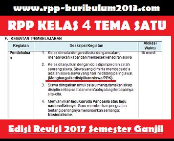 gambar rpp k13 kelas 4 revisi 2017 tema 1