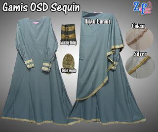 Gamis Umbrella OSD Sequin Bahan Balotelli Terbaru