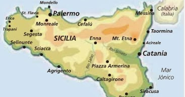 Mapa De Sicilia Italia.Bajo El Sol De Sicilia Situandonos En El Mapa