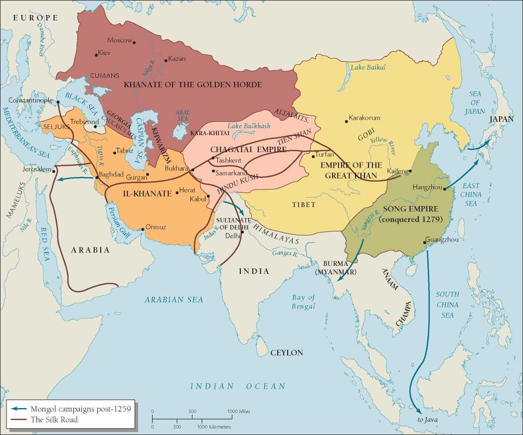 The Mongol Conquests: Every Year - YouTube   Mongol Conquest Land