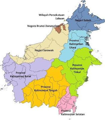 peta pulau kalimantan batas wilayah provinsi (province teritory in kalimantan)