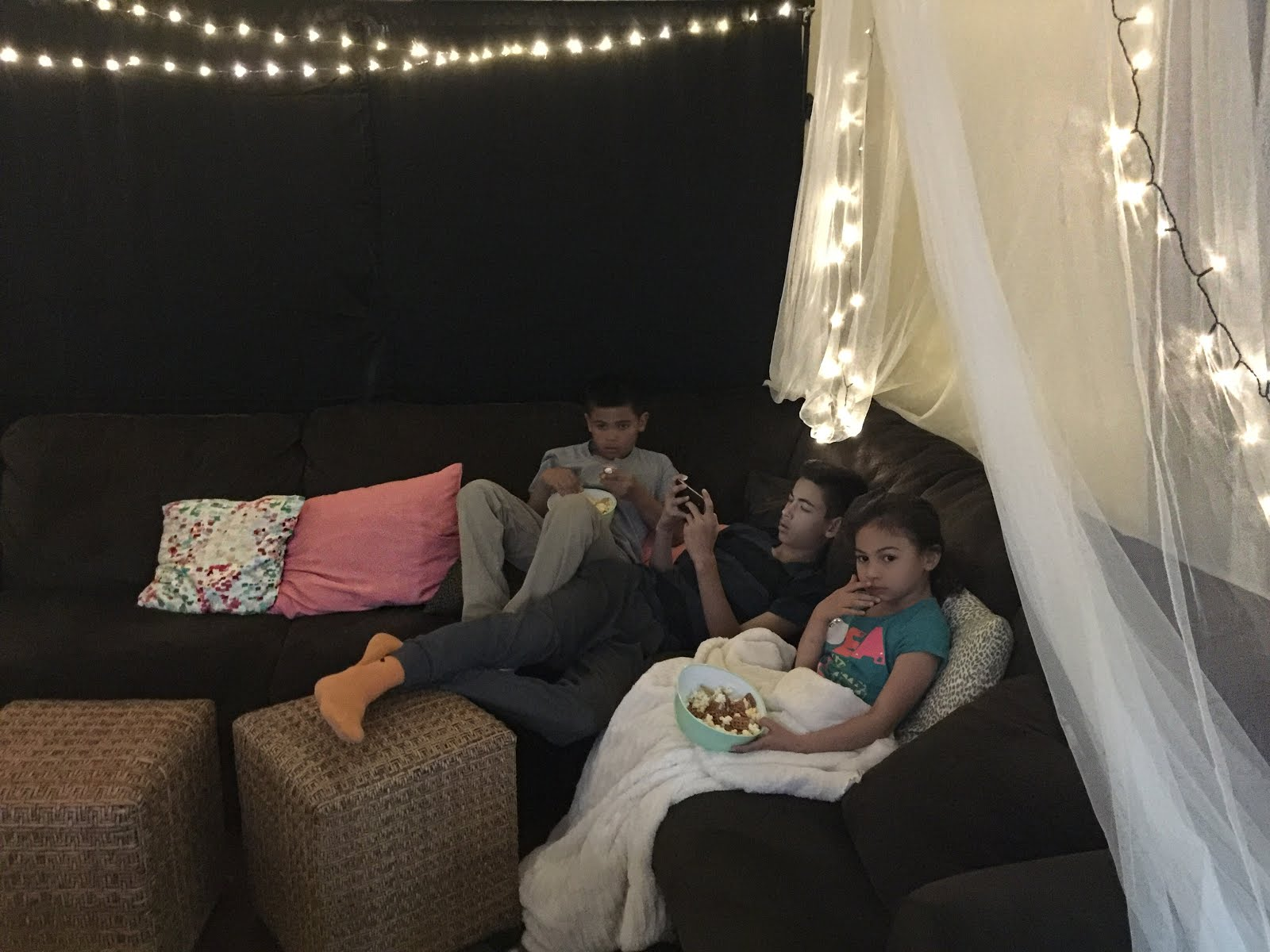 How to have a family campout indoors to watch movies on VUDU. Max Your Tax Cash with Walmart Family Mobile Plus.