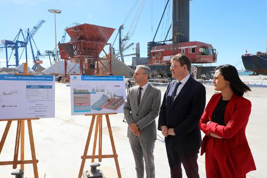 Puig subraya la relevancia del puerto de Castellón como plataforma de desarrollo económico