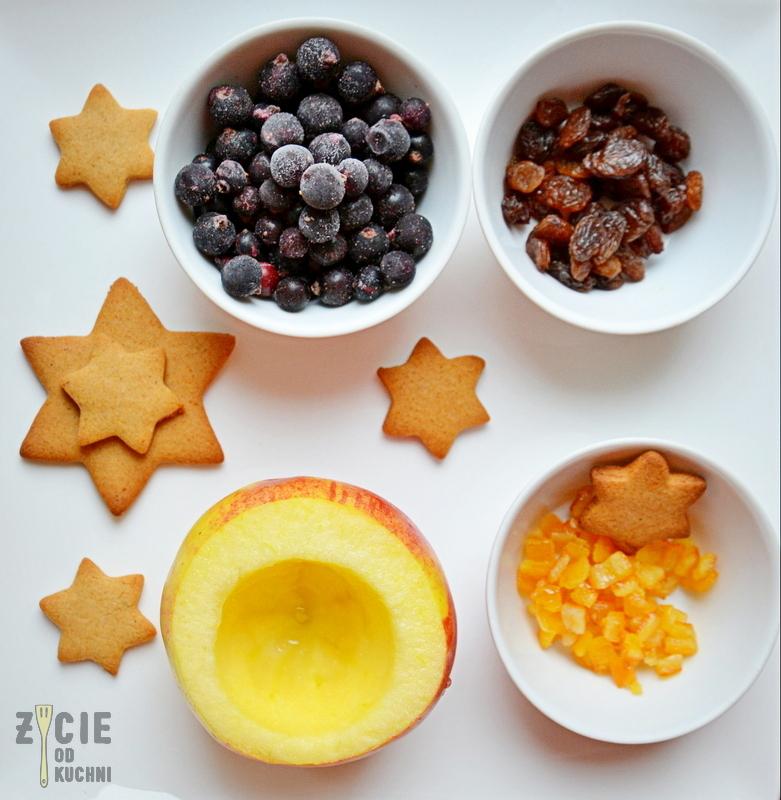 jablka pieczone, przepisy na boze narodzenie, boze narodzenie, swiateczny deser, zimowy deser, jablka z piernikami, deser z piernikami
