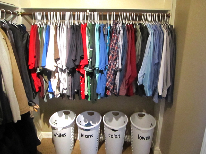 Life with both hands full totally organized tuesdays master bedroom closet part 2 for How to organize bedroom closet