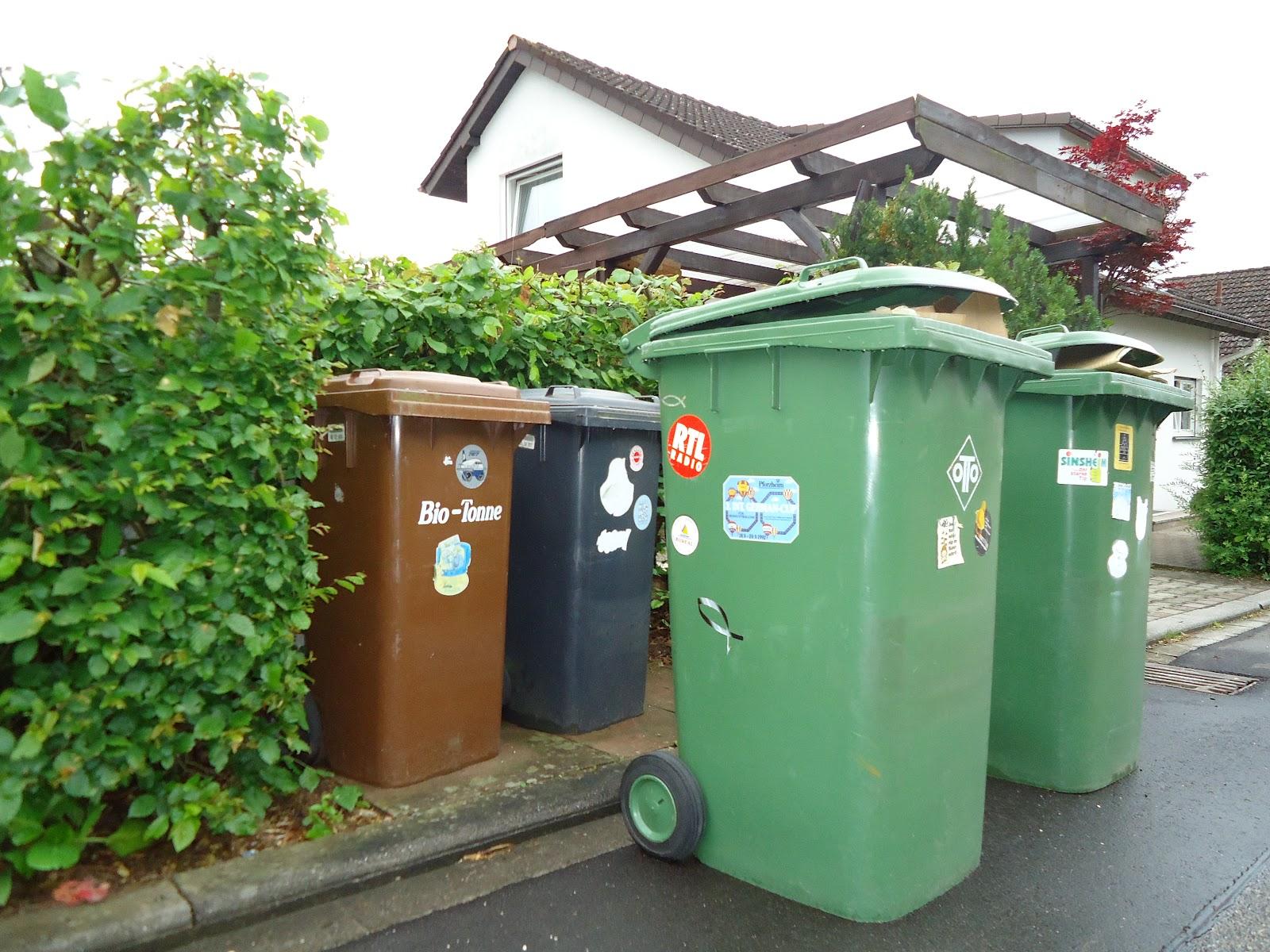 Poubelles Noires De Jardin le patchwork de justine: j'ai testé le recyclage allemand