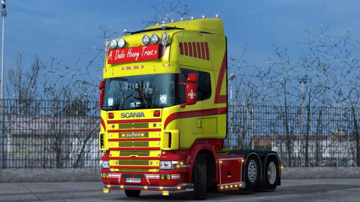 Dutch Yellow-Red Skin for Scania RJL 4series