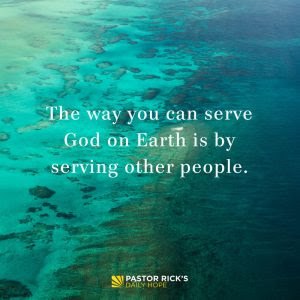 God Shaped You for Service by Rick Warren