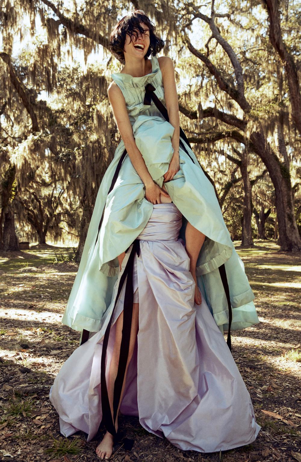 Oscar de la Renta dresses in Porter magazine Spring 2016 (photography: Cass Bird, styling: Alex White)