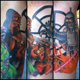 Star Wars Futurama tattoo