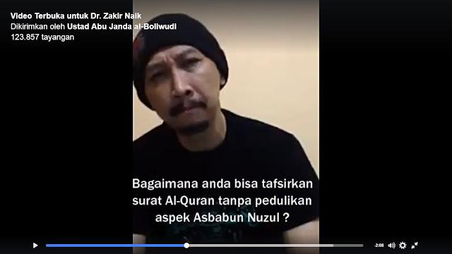 video Abu Janda Tantang Zakir Naik dan Mengatakan Zakir naik salah menafsirkan AlMaidah 51