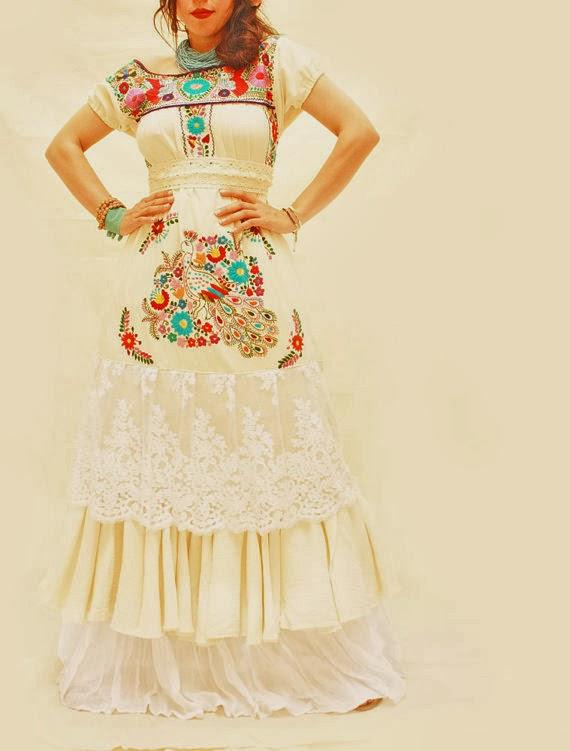 Aida coronado mexico embroidery dresses mexican wedding for Dresses for mexico wedding