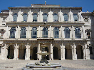 The Palazzo Barberini was Barberini's home in the centre of Rome, just off Piazza Barberini