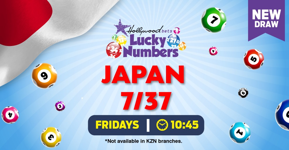Japan 7/37 Lotto - Lucky Numbers - Hollywoodbets