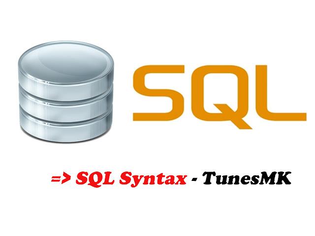 SQL Syntax - TunesMK