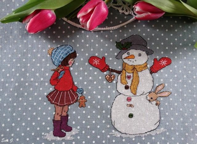 """Belle&Boo """"Build a  Snowman"""" - testowanie wzoru"""
