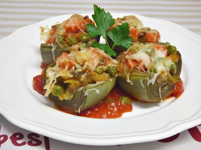 Receta para preparar alcachofas a la jardinera