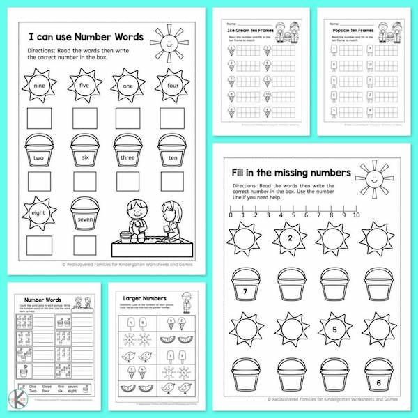 Kindergarten Worksheets And Games Free Summer Kindergarten Math