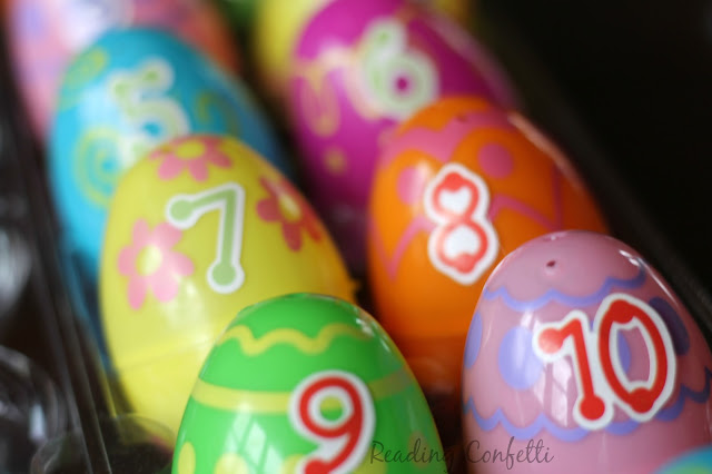 Fill numbered plastic Easter eggs with small treasures to make a fun and easy countdown.