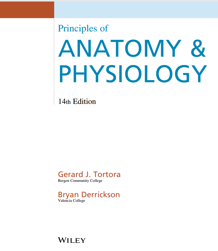 Gemütlich Gerard J Tortora Principles Of Anatomy And Physiology ...