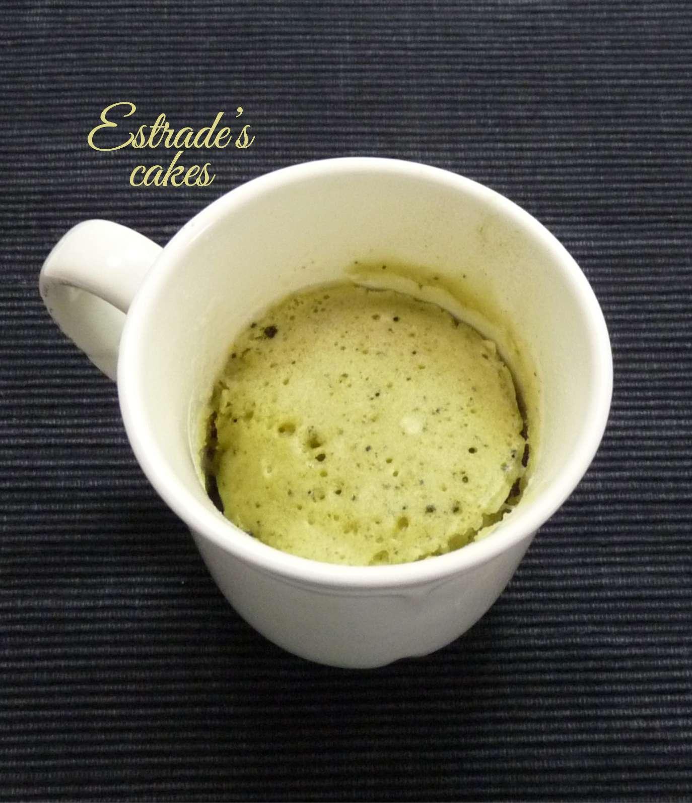 receta de mugcake de té matcha 3
