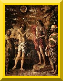 Baptism of Christ by Andrea Mantegna, 1505 - PD-1923