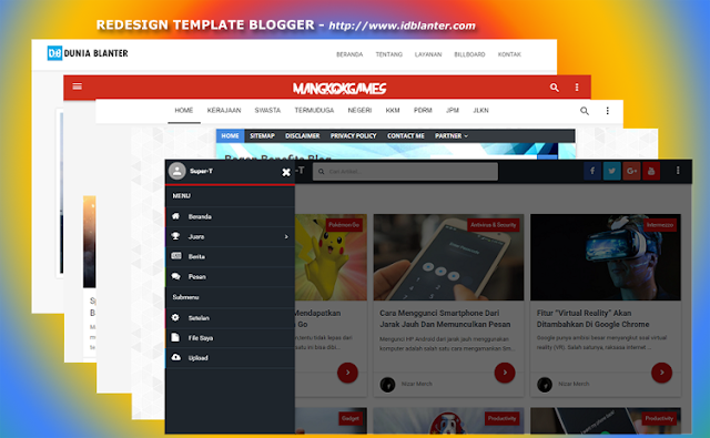 Jasa Redesain Template Blogger