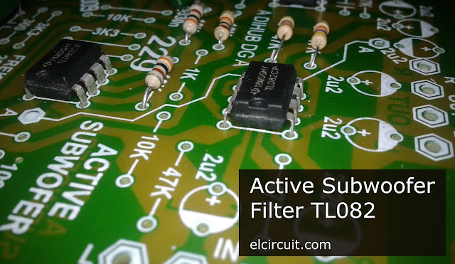 Active Subwoofer Circuit TL082 / TL072 / 4558