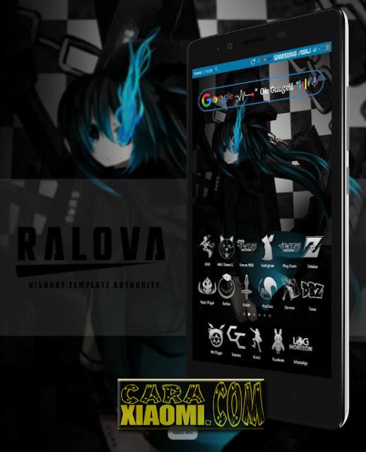 Link Download Tema Xiaomi Anime Black Rock Shooter mtz For MIUI Terbaru:
