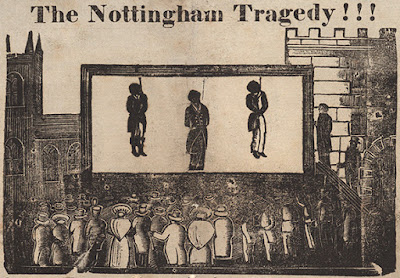 Depiction of the hanging on 1 Feb 1832 as appearing in a handbill