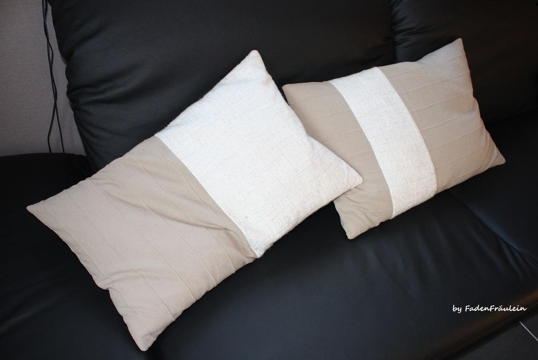 fadenfr ulein neue kissen f r die couch. Black Bedroom Furniture Sets. Home Design Ideas