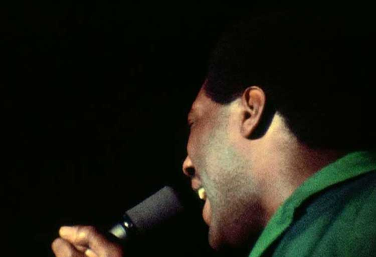 Otis Redding belts out a tune in Shake! Otis at Monterey.