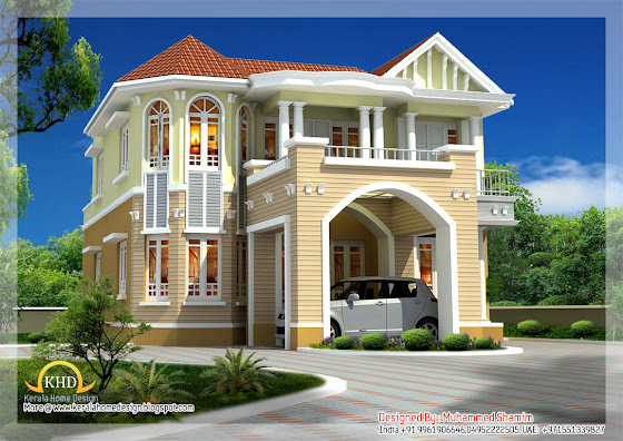 Beautidul House Elevation - 241 Sq M (2590 Sq. Ft) - December 2011