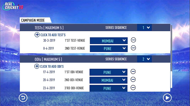 Real Cricket 19 Tour Mode