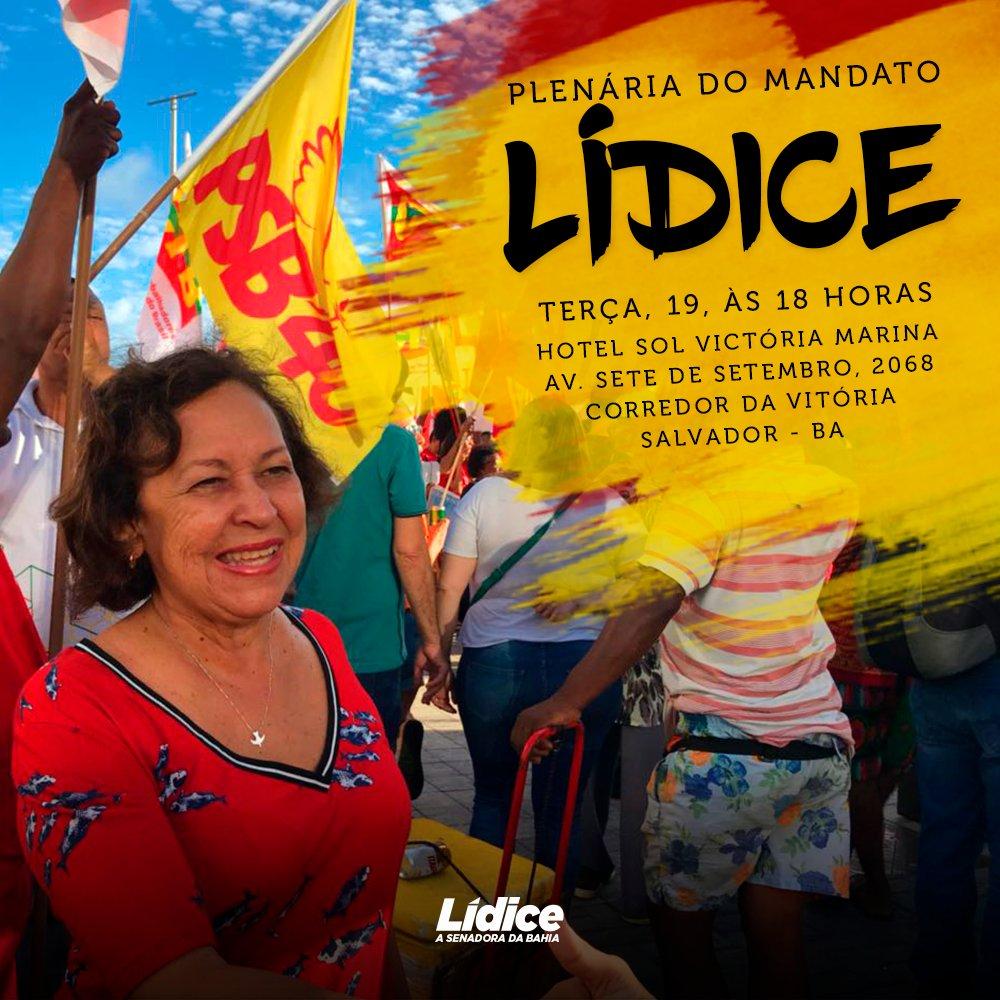 Lídice convoca plenária para discutir chapa majoritária de Rui Costa